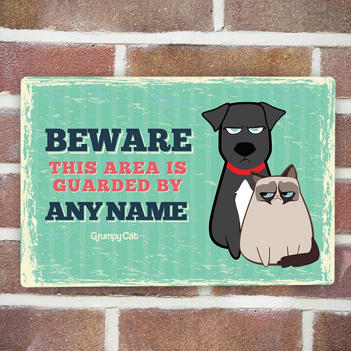 Grumpy Cat Beware House Sign - Image 1
