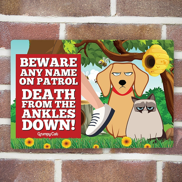 Grumpy Cat Ankles House Sign - Image 1