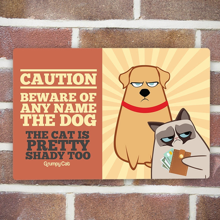Grumpy Cat Caution House Sign - Image 3