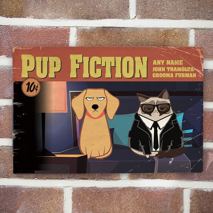 Grumpy Cat Pup Fiction House Sign - Image 3