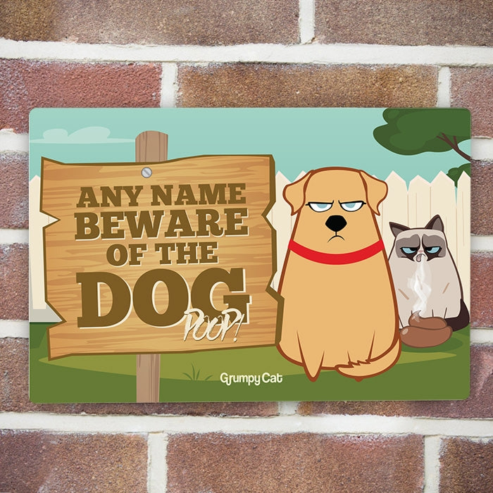 Grumpy Cat Dog Poop House Sign - Image 1