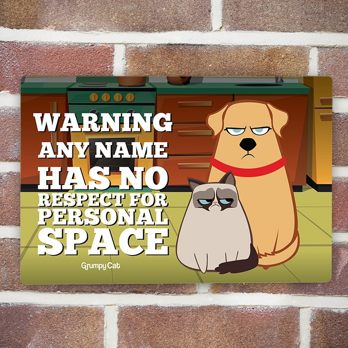 Grumpy Cat Personal Space House Sign - Image 2