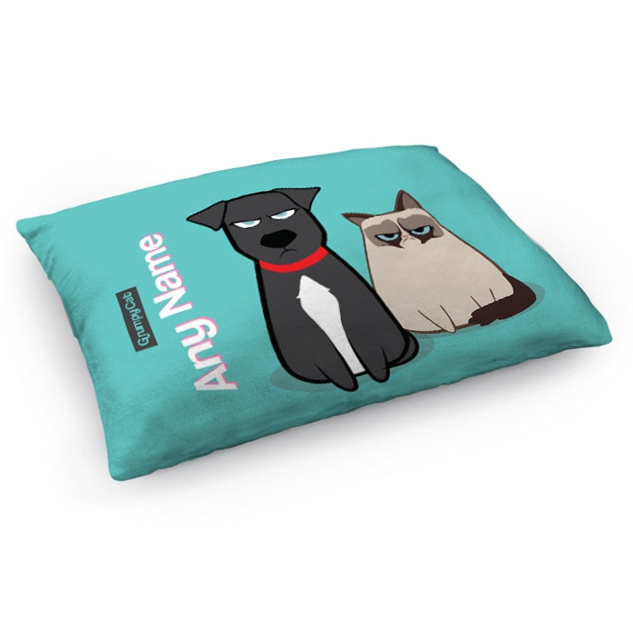 Grumpy Cat Turquoise Pet Bed - Image 1