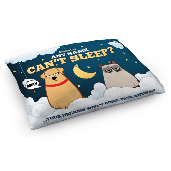 Grumpy Cat Can't Sleep Pet Bed - Image 1