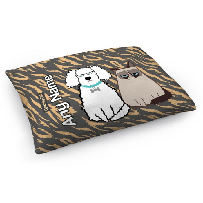 Grumpy Cat Animal Print Pet Bed - Image 2