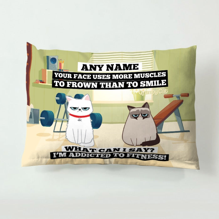 Grumpy Cat Exercise Pet Bed - Image 1