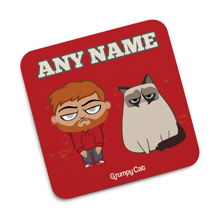 Grumpy Cat Red Coaster