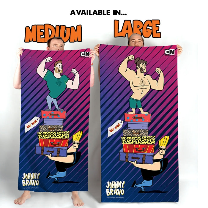 Johnny Bravo Guys Luggage Beach Towel - Image 4