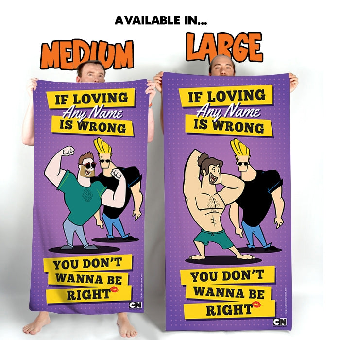 Johnny Bravo Guys Loving Me Beach Towel - Image 4