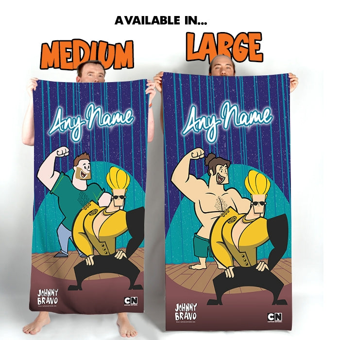 Johnny Bravo Guys Hammer Dance Beach Towel - Image 3