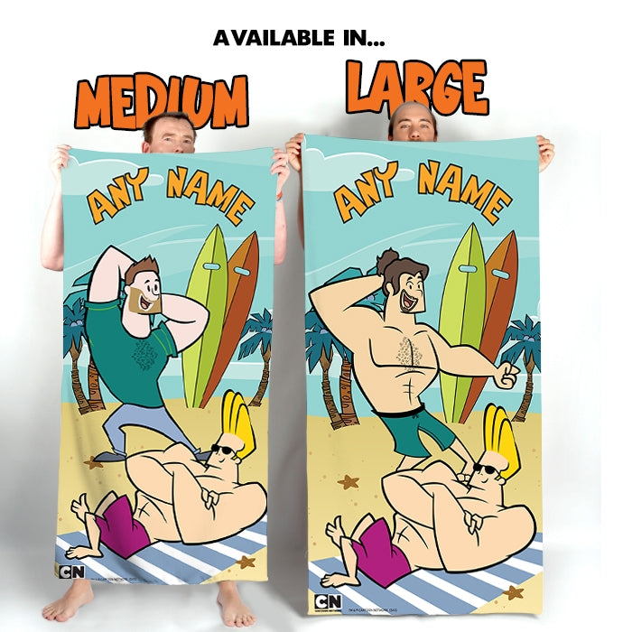 Johnny Bravo Guys Sunbathing Beach Towel - Image 3
