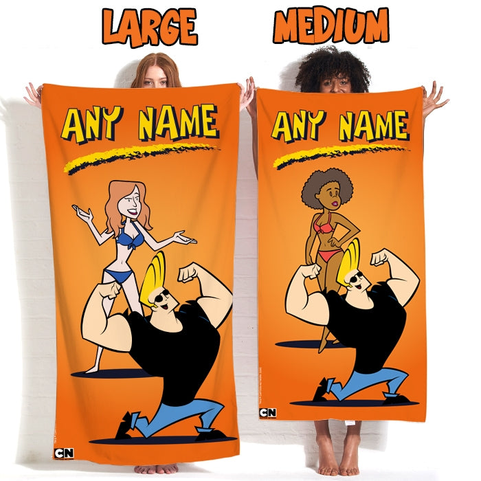 Johnny Bravo Ladies Orange Beach Towel - Image 4