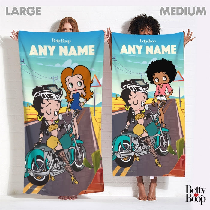 Betty Boop Born To Ride Beach Towel - Image 4