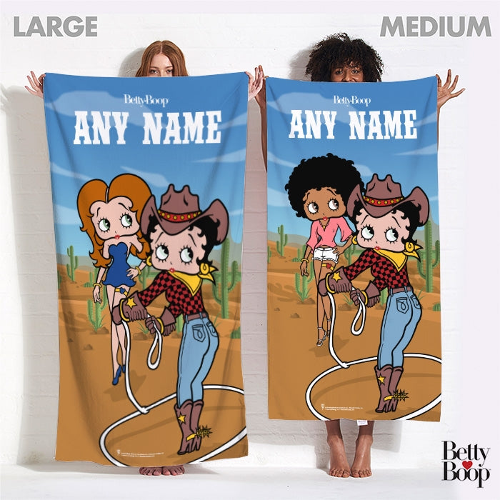 Betty Boop Cowgirl Betty Beach Towel - Image 4
