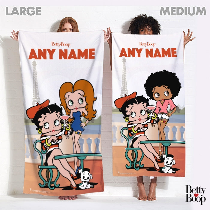 Betty Boop Parisian Betty Beach Towel - Image 4
