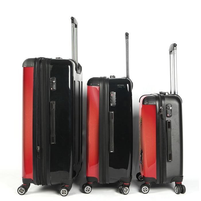 Johnny Bravo Guys Distressed Red Suitcase - Image 3