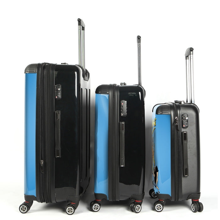 Johnny Bravo Guys Blue Suitcase - Image 3
