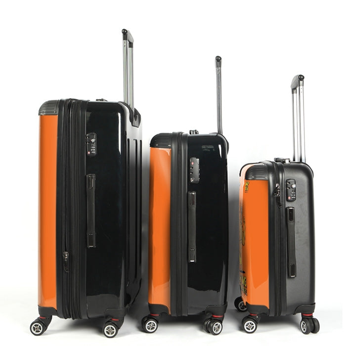 Johnny Bravo Guys Bold Orange Suitcase - Image 3