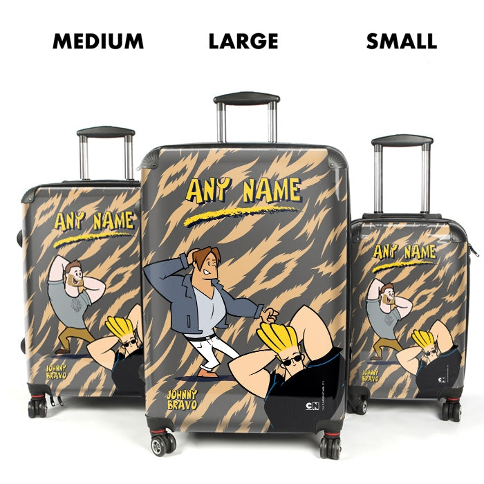 Johnny Bravo Guys Animal Print Suitcase - Image 4