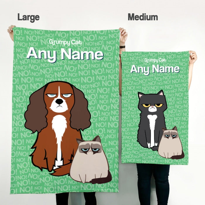 Grumpy Cat No Pet Blanket - Image 2