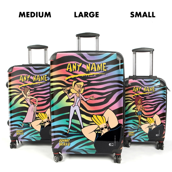 Johnny Bravo Ladies Zebra Print Vibes Suitcase - Image 4