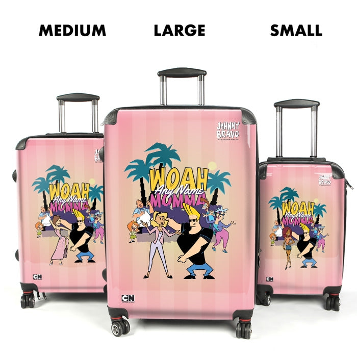 Johnny Bravo Ladies Pink Monkey Dance Suitcase - Image 4