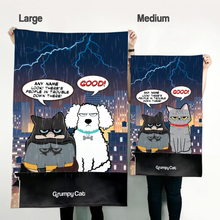 Grumpy Cat Catman Pet Blanket - Image 3