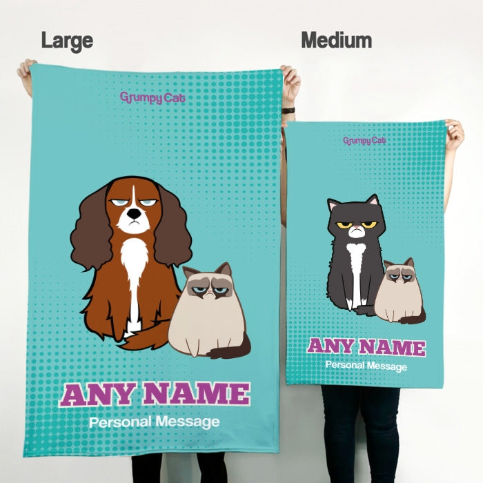 Grumpy Cat Mint Pet Blanket - Image 2
