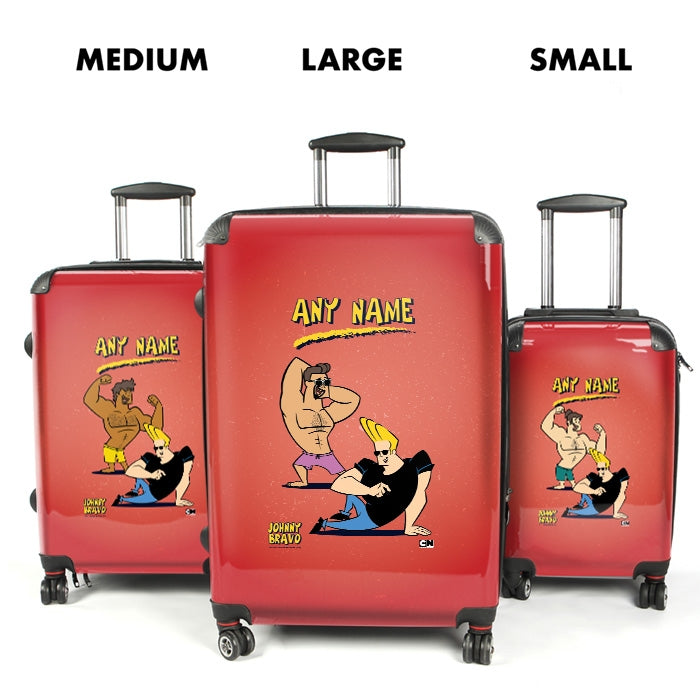 Johnny Bravo Guys Distressed Red Suitcase - Image 4