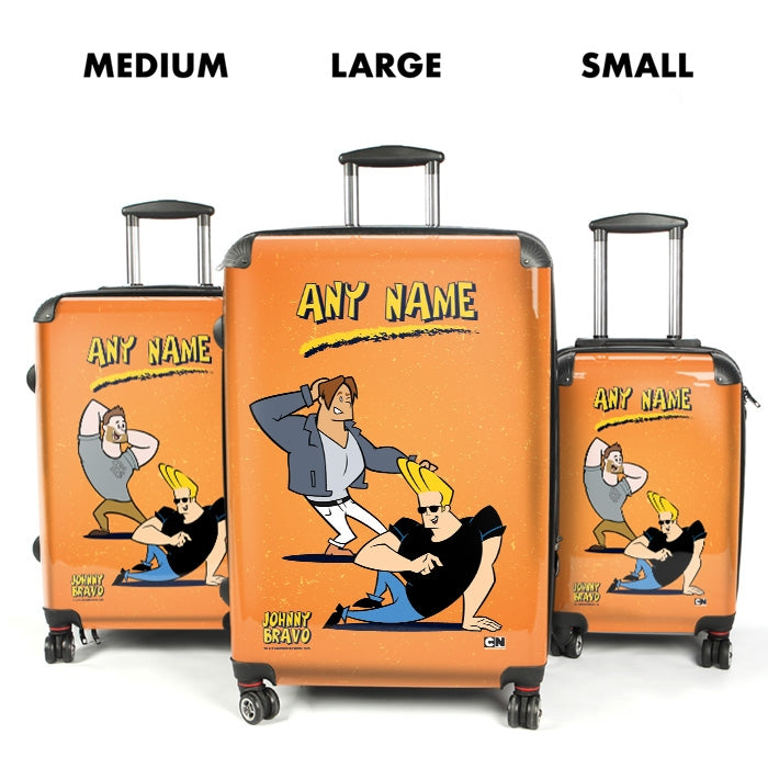 Johnny Bravo Guys Distressed Orange Suitcase - Image 4