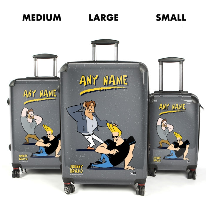 Johnny Bravo Guys Distressed Grey Suitcase - Image 1
