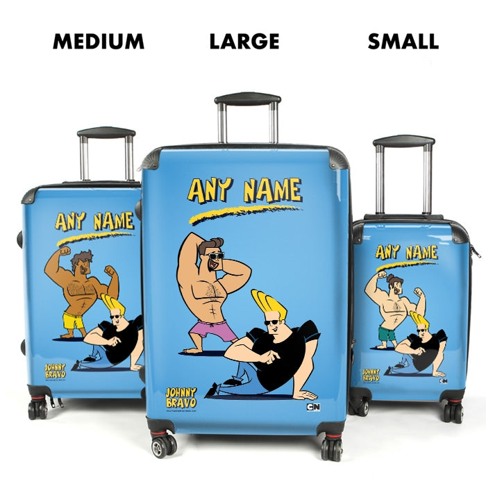 Johnny Bravo Guys Blue Suitcase - Image 4