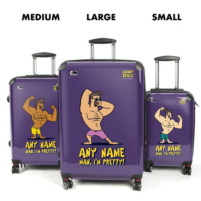 Johnny Bravo Guys Bold Purple Suitcase - Image 4