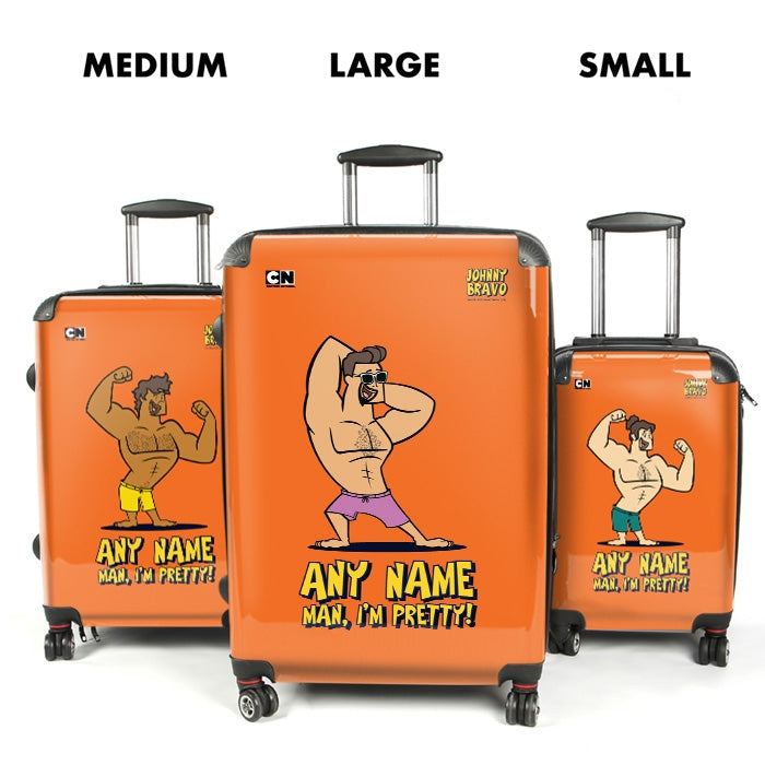 Johnny Bravo Guys Bold Orange Suitcase - Image 4