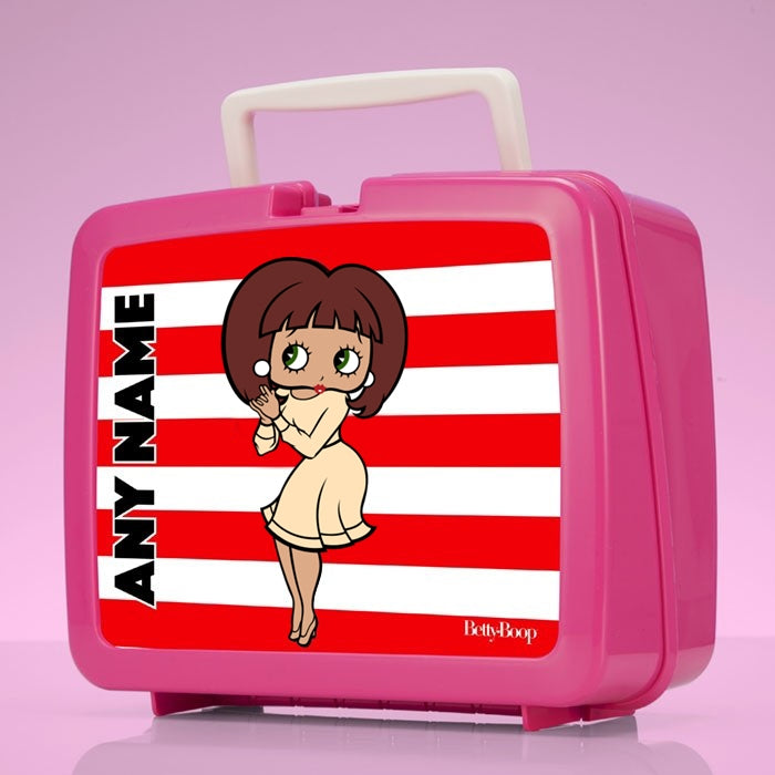 Betty Boop Candy Stripe Lunch Box - Image 1