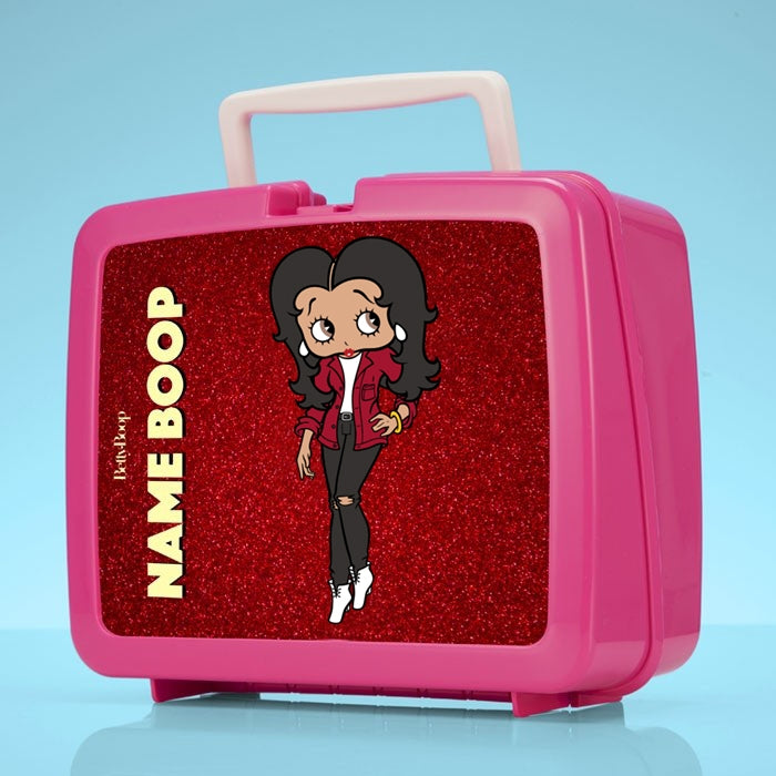 Betty Boop Red Glitter Effect Lunch Box - Image 1