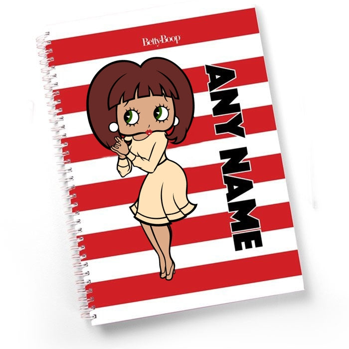 Betty Boop Candy Stripe Hardback Notebook - Image 1