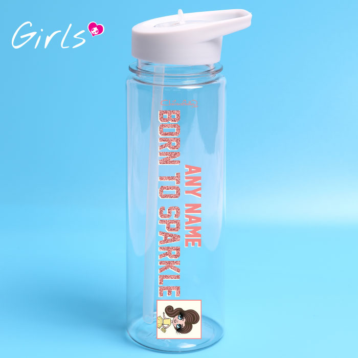 ClaireaBella Girls Sparkle Water Bottle
