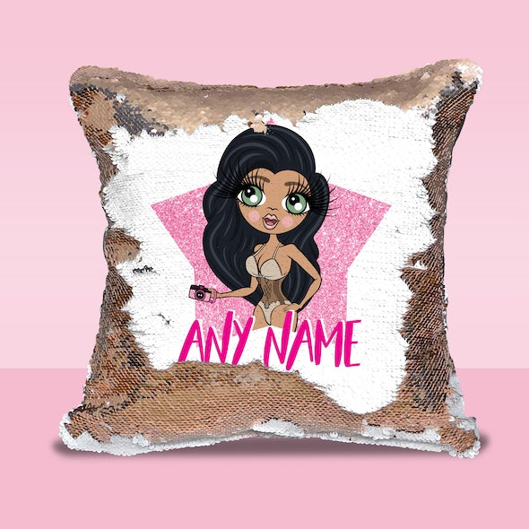ClaireaBella Shining Star Sequin Cushion - Image 1