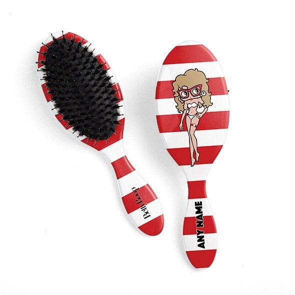 Betty Boop Candy Stripe Hair Brush - Image 1