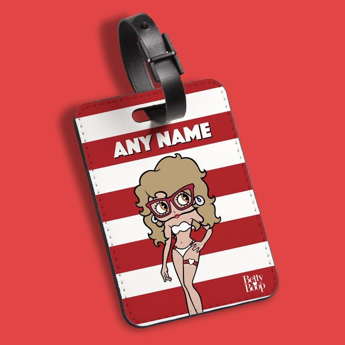 Betty Boop Candy Stripe Luggage Tag - Image 1