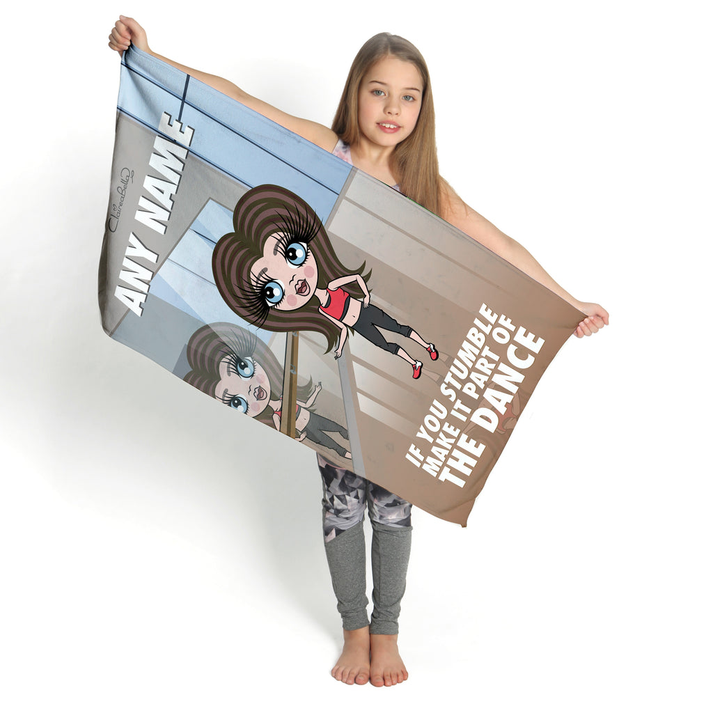 ClaireaBella Girls If You Stumble Gym Towel - Image 2
