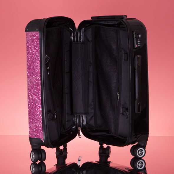 ClaireaBella Glitter Effect Suitcase - Image 7