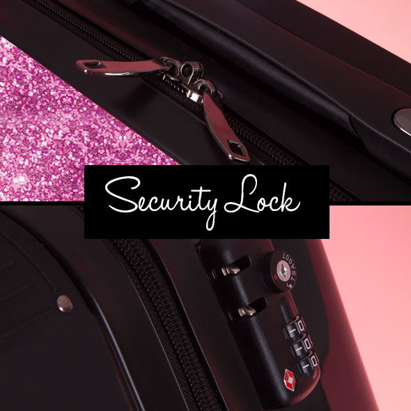 ClaireaBella Glitter Effect Suitcase - Image 8