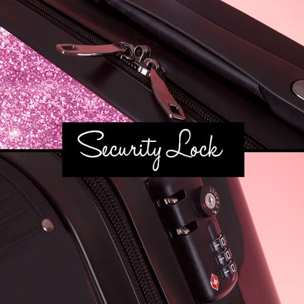 ClaireaBella Selfie Glitter Effect Suitcase - Image 6