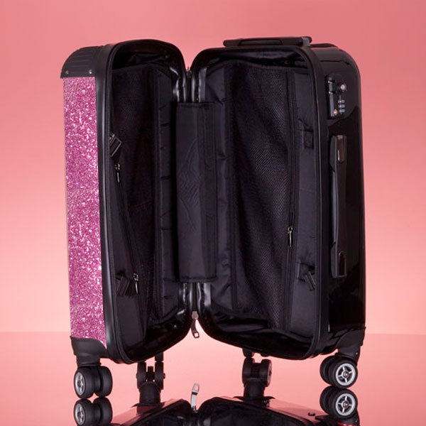 ClaireaBella Selfie Glitter Effect Suitcase - Image 7