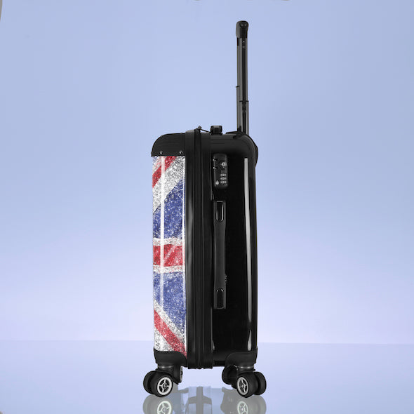 ClaireaBella Glitter Effect Union Jack Suitcase - Image 7