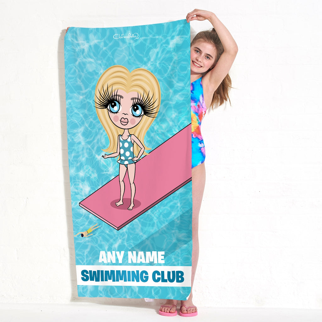 ClaireaBella Girls Diving Board Swimming Towel - Image 1