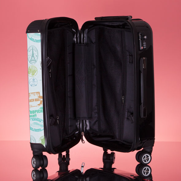 ClaireaBella Girls Travel Stamp Suitcase - Image 7