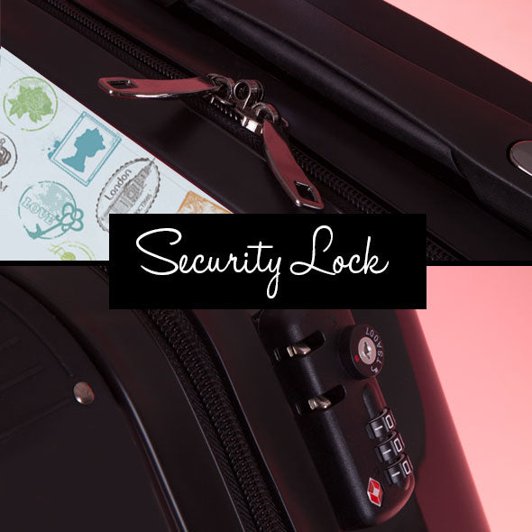 ClaireaBella Girls Travel Stamp Suitcase - Image 9